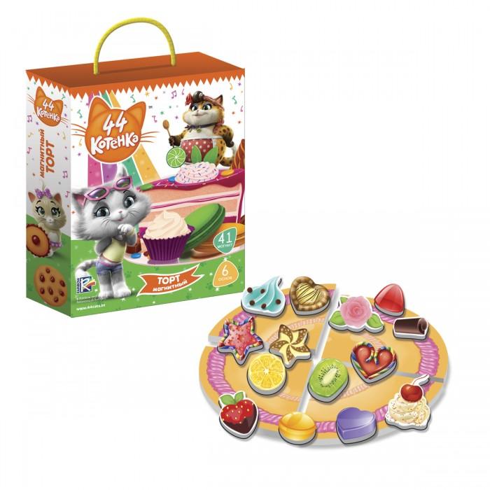 Картинка для Настольные игры Vladi toys Игра магнитная 44 Котенка Торт