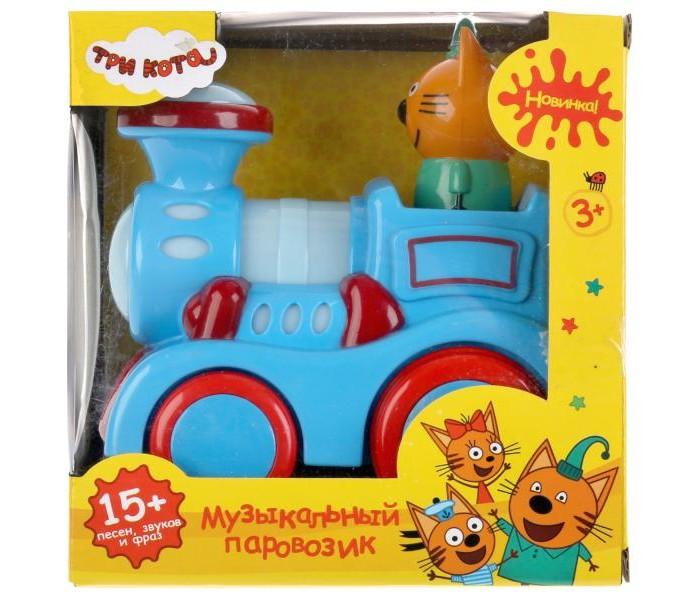 Картинка для Электронные игрушки Умка Музыкальный паровозик Три кота