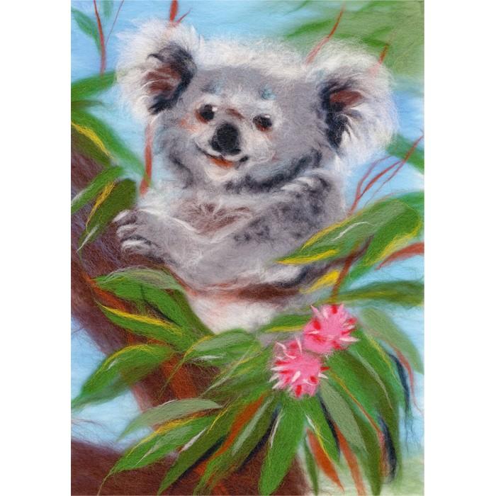 Картины своими руками Woolla Набор для валяния Добродушная коала