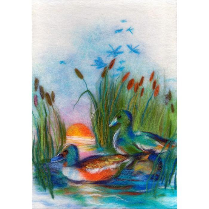 Картины своими руками Woolla Набор для валяния Утки на озере