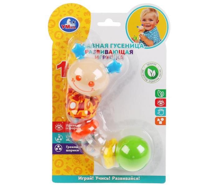 Картинка для Развивающие игрушки Умка Гусеничка с текстильными элементами