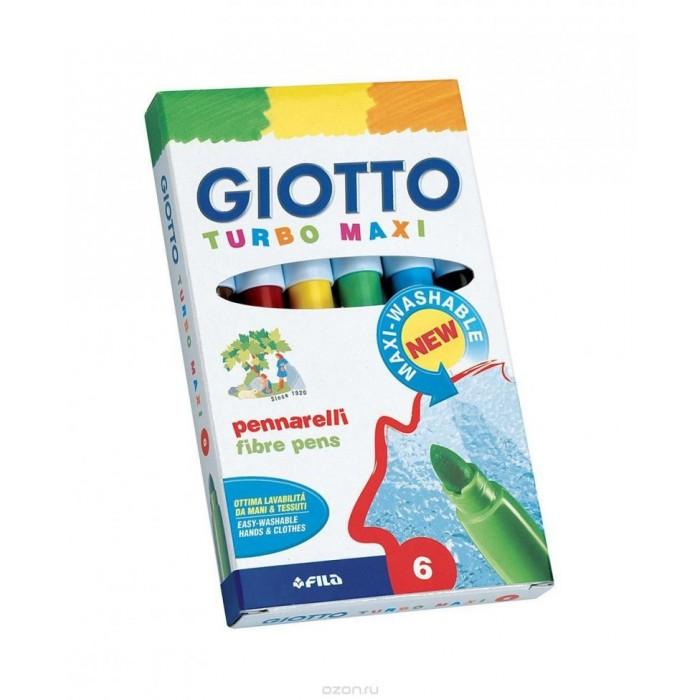 Фломастеры Giotto Turbo Maxi утолщенные 6 цветов фломастеры для декорирования различных поверхностей giotto decor materials 6 цветов 453300