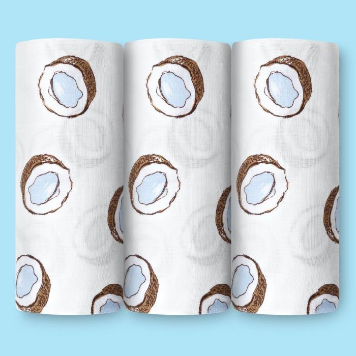 Пеленки Loombee муслиновая 118 см и салфетка 25 см (2 предмета) MS-3442