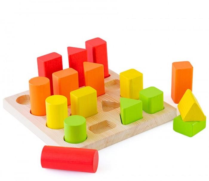 Фото - Деревянные игрушки Томик Сортер Геометрия деревянные игрушки томик пирамидка 9 деталей