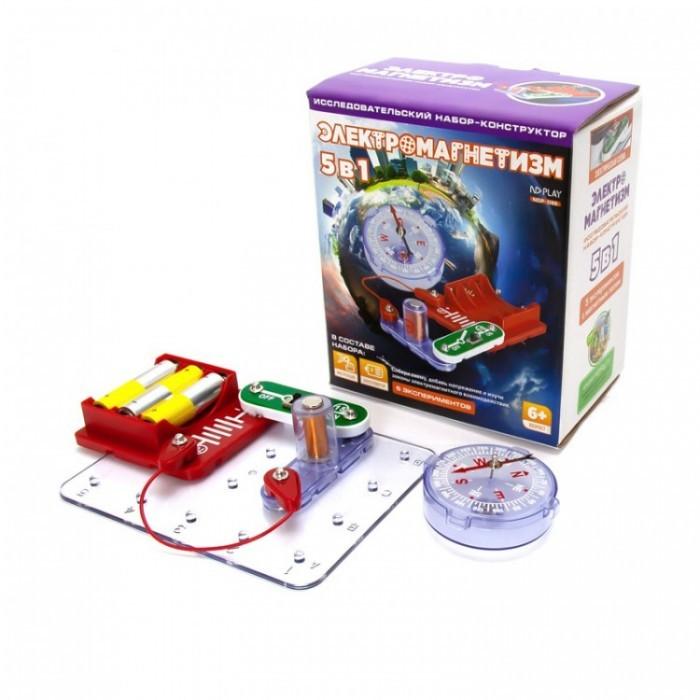 Картинка для Наборы для опытов и экспериментов ND Play Электронный конструктор Электромагнетизм 5 в 1