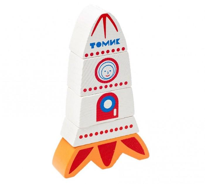 Фото - Деревянные игрушки Томик Пирамидка Ракета без оси деревянные игрушки qiqu wooden toy factory пирамидка яркие краски