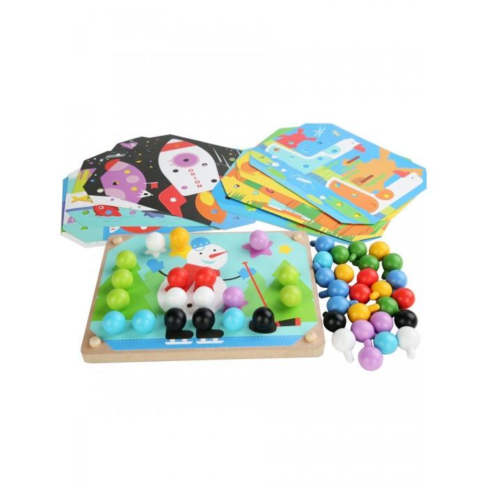 Картинка для Деревянные игрушки Lucy & Leo Дополнительный набор карточек и шариков к мозайке LL219