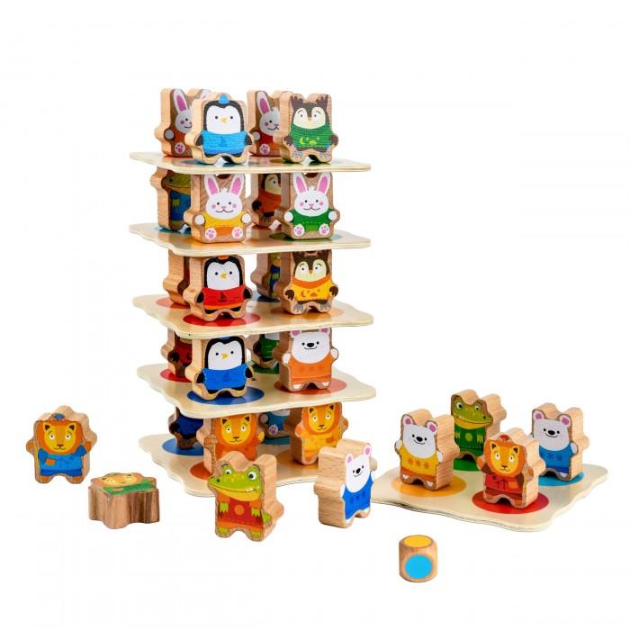 Купить Деревянные игрушки, Деревянная игрушка Lucy & Leo Звериная башня