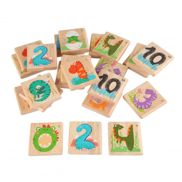 Картинка для Деревянные игрушки Игрушки из дерева Мемо-игра Дино-цифры