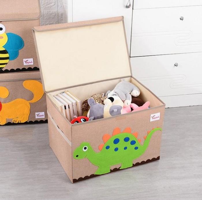 Joki Home Сундук для вещей и игрушек Динозавр 53х36х36 см