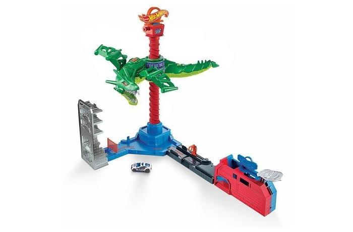 Картинка для Игровые наборы Mattel Hot Wheels Сити игровой набор Воздушная атака дракона-робота
