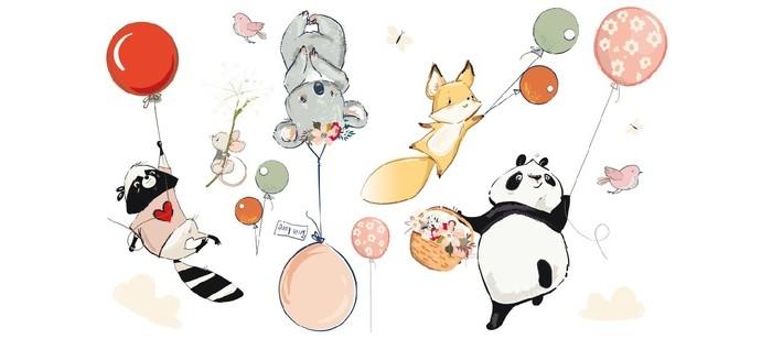 детские наклейки Детские наклейки Laika Интерьерные наклейки Малыши на воздушных шариках