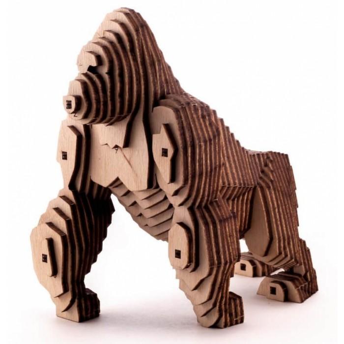 Купить Сборные модели, Uniwood Деревянный конструктор Горилла с набором карандашей (78 деталей)