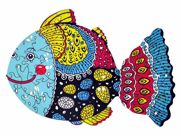 Деревянная игрушка Happycon Пазл Фантастическая рыбка