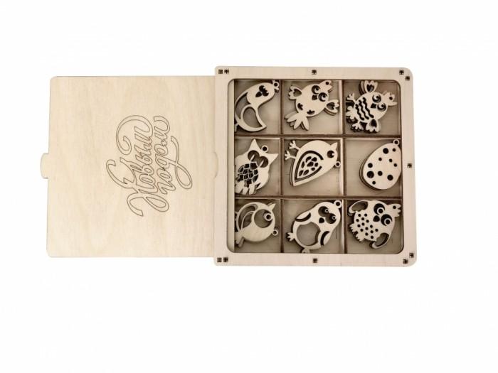 Наборы для творчества Lemmo Набор деревянный Новогодние птички
