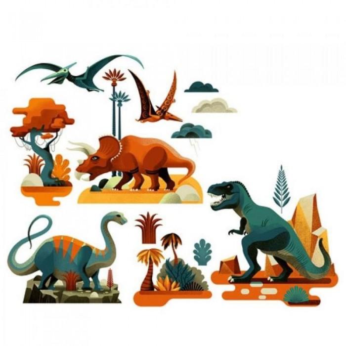 Картинка для Детские наклейки Djeco Наклейки на окна Динозавры