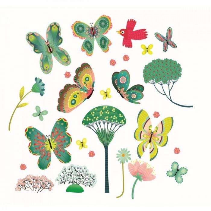 детские наклейки Детские наклейки Djeco Наклейки на окна Бабочки в саду