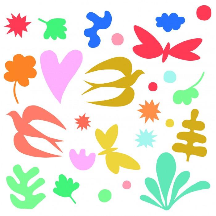Картинка для Детские наклейки Djeco Оконные наклейки Фантазия 36 шт.