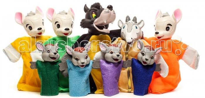 Yick Wah Кукольный театр Волк и Семеро КозлятКукольный театр Волк и Семеро КозлятYick Wah Кукольный театр Волк и Семеро Козлят. Дети любят кукольный театр. Почему бы не устроить его дома, используя куклы-перчатки? Тогда малыш сможет быть не только зрителем, но и участником представления с собственным сюжетом.  Замечательные куклы из набора помогу вам разыграть настоящее представление, как для детей, так и с их участием. Набор состоит из куколок, которые одеваются на руку и текста сказки.  Кукольный театр как и раньше сейчас достаточно востребован. И по популярности не уступает ни цирковым, ни театральным представлениям. Детки с удовольствием смотрят кукольные постановки, кричат, когда герой в опасности, подсказывают куда бежать или помогают добрым персонажам решить трудные задачки.  Можно придумать свою историю и развернуть интересную захватывающую игру.<br>