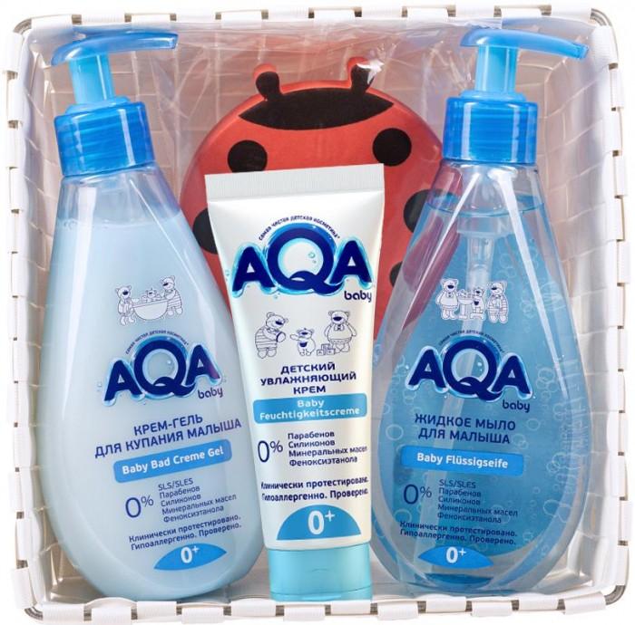 Фото - Косметика для новорожденных AQA baby Гель для купания 250 мл, жидкое мыло 250 мл, увлажняющий крем 75 мл, стопер для двери свобода крем мылоsvoboda baby длямладенца 250 мл