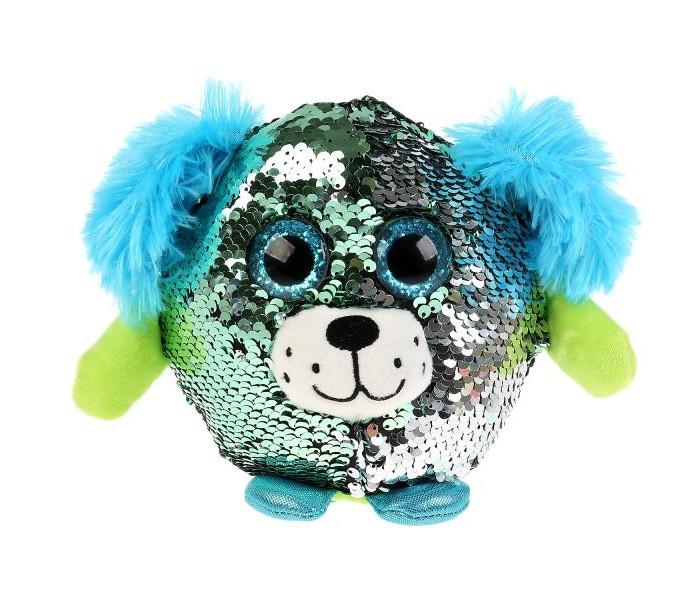 Купить Мягкие игрушки, Мягкая игрушка Мульти-пульти Круглая собачка из пайеток 14 см