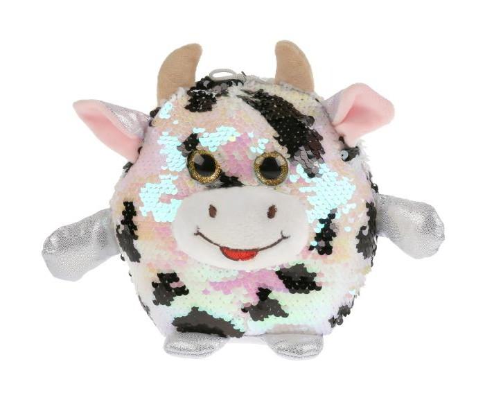 Купить Мягкие игрушки, Мягкая игрушка Мульти-пульти Пятнистая корова из пайеток 17 см