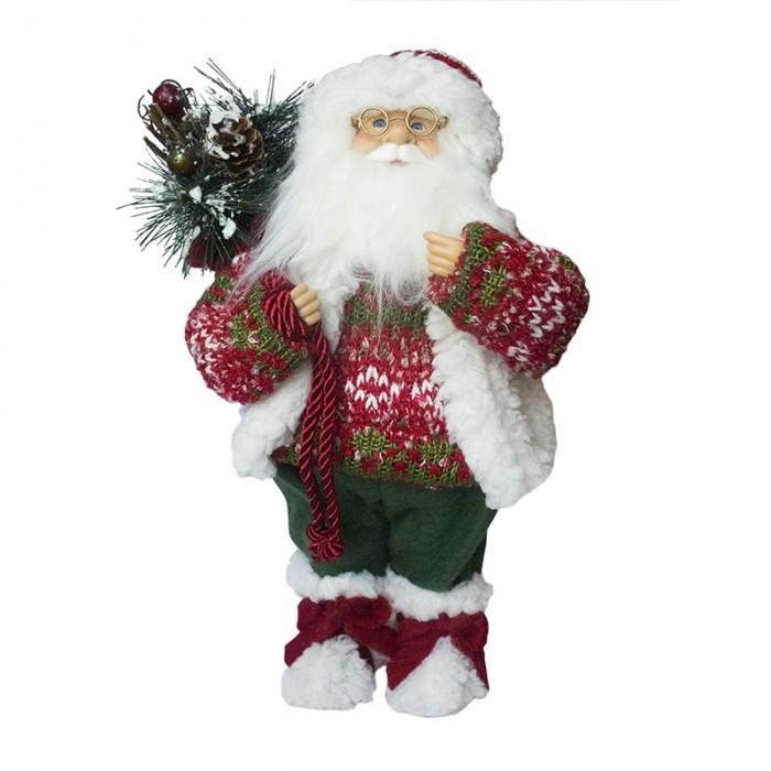 Новогодние украшения Maxitoys Дед Мороз в свитере и шапке 32 см