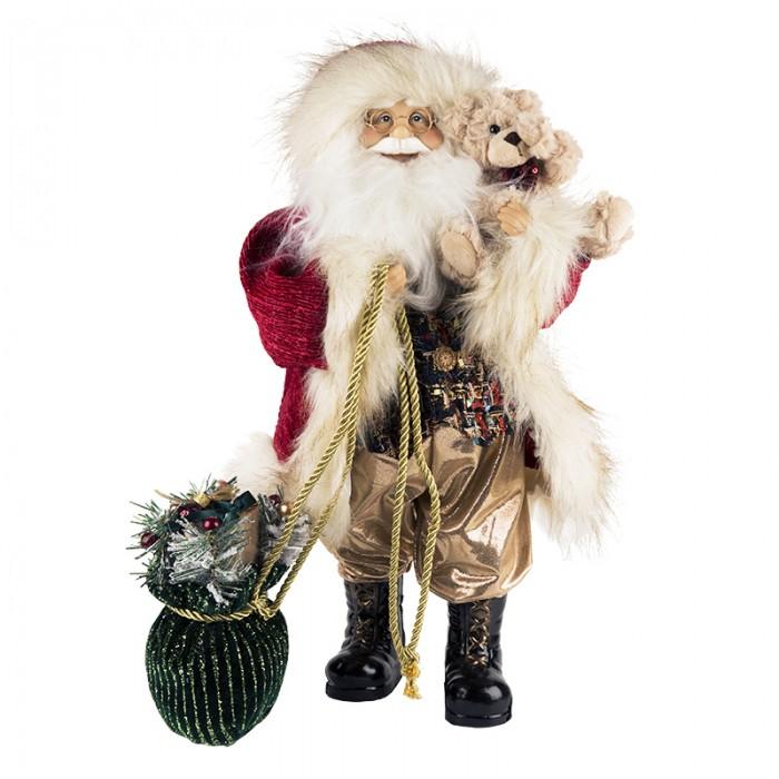 Новогодние украшения Maxitoys Дед Мороз с зеленым мешком 32 см новогодние украшения maxitoys дед мороз в красной шубе с мешком 32 см