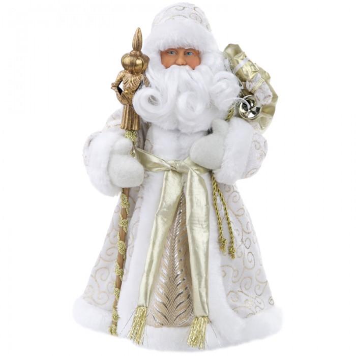 Картинка для Новогодние украшения Феникс Презент Декоративная кукла Дед Мороз в золотом костюме 30.5 см
