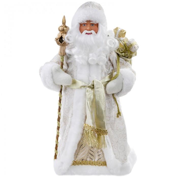 Новогодние украшения, Феникс Презент Декоративная кукла Дед Мороз в золотом костюме 41 см  - купить со скидкой