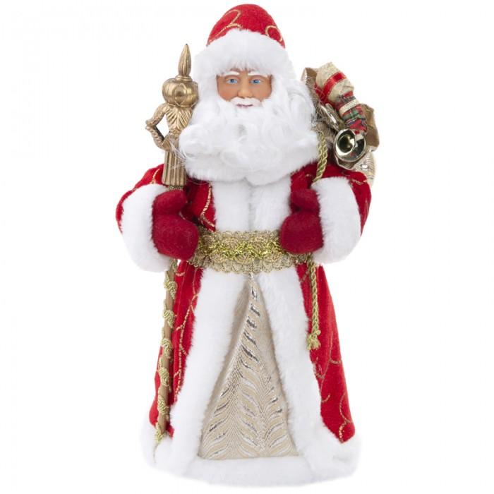 Купить Новогодние украшения, Феникс Презент Декоративная кукла Дед Мороз в красном костюме 41 см