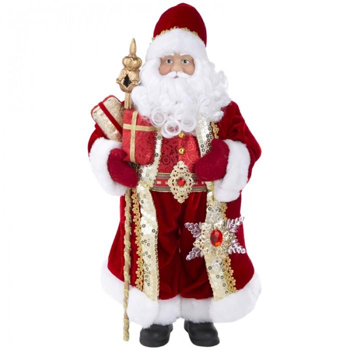 Купить Новогодние украшения, Феникс Презент Декоративная кукла Дед Мороз в красном костюме 45.5 см