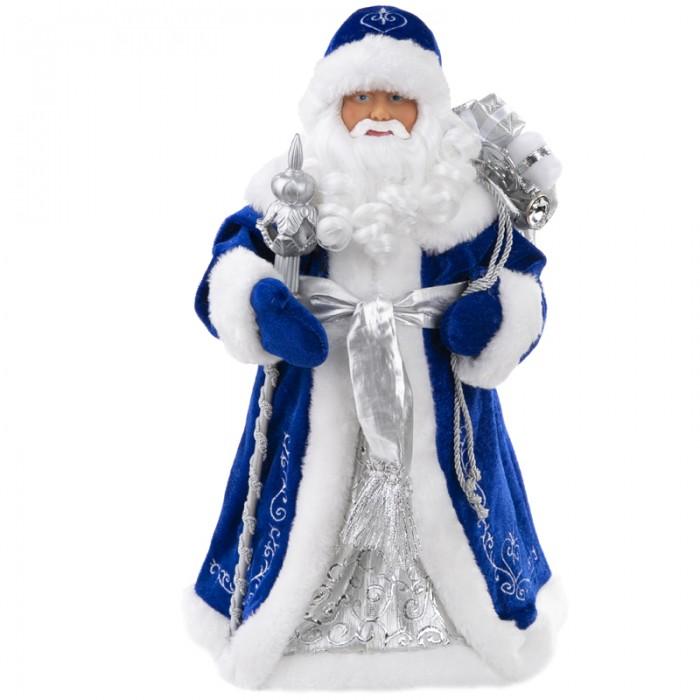 Купить Новогодние украшения, Феникс Презент Декоративная кукла Дед Мороз в синем костюме 41 см