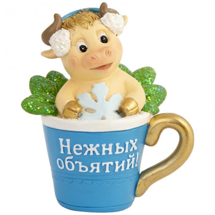 Новогодние украшения Феникс Презент Декоративная фигурка Бычок в бокале