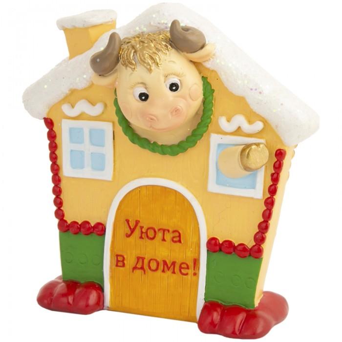 Новогодние украшения Феникс Презент Декоративная фигурка Бычок в домике