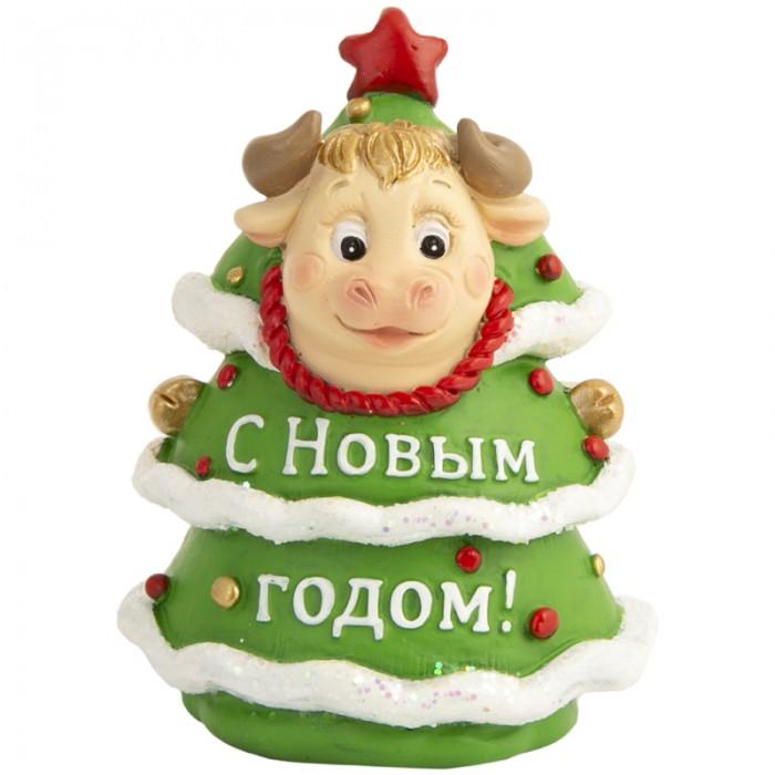 Новогодние украшения Феникс Презент Декоративная фигурка Бычок в костюме елки