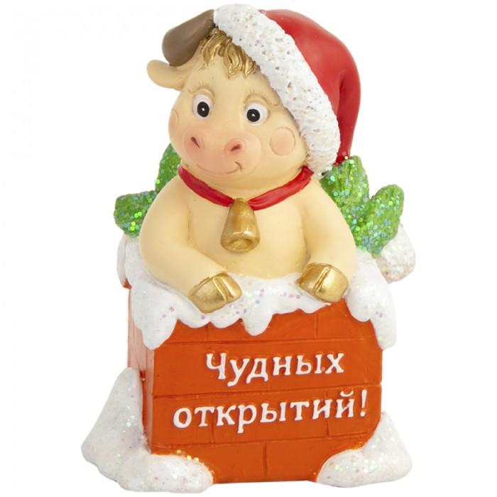 Новогодние украшения Феникс Презент Декоративная фигурка Бычок в печной трубе