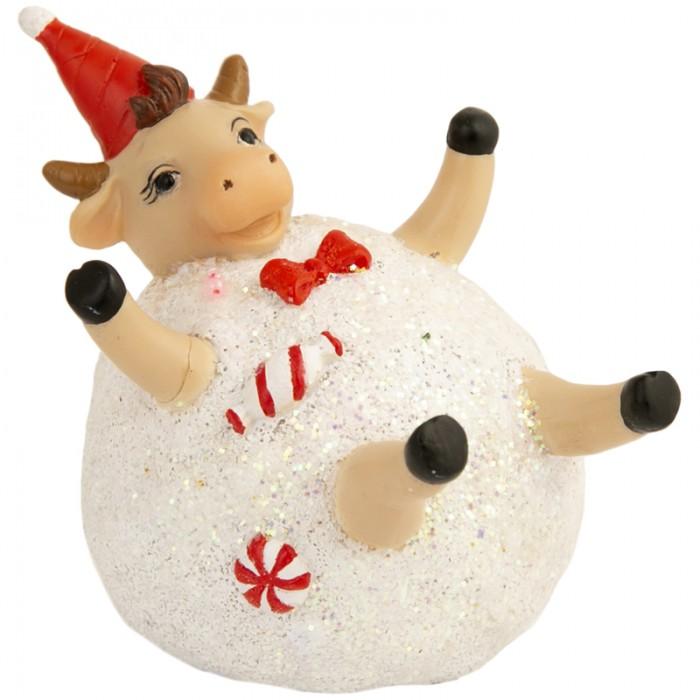 Новогодние украшения Феникс Презент Декоративная фигурка Бычок в снежке