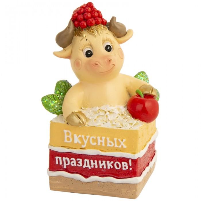 Новогодние украшения Феникс Презент Декоративная фигурка Бычок в торте