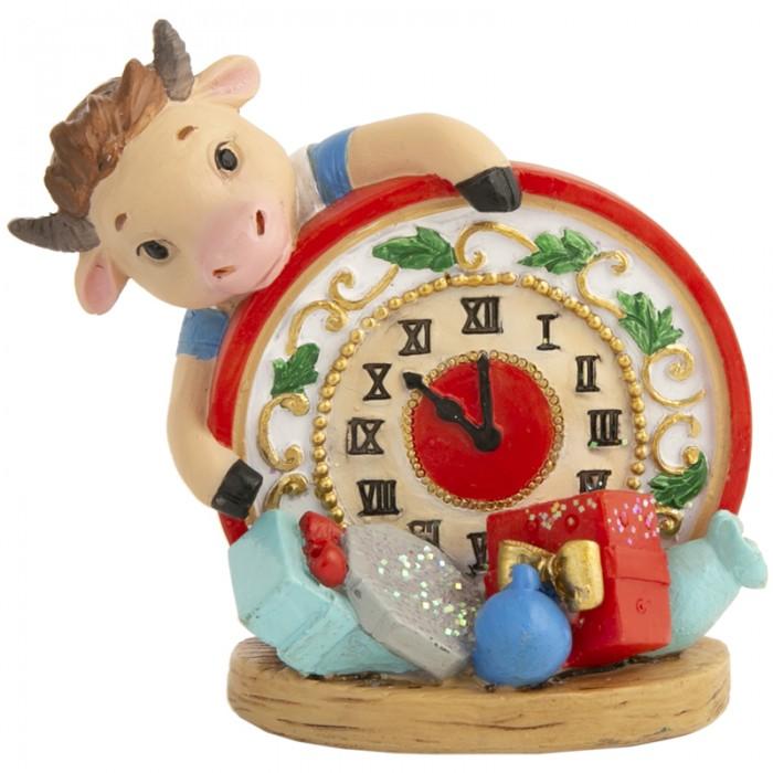 Новогодние украшения Феникс Презент Декоративная фигурка Бычок с часами