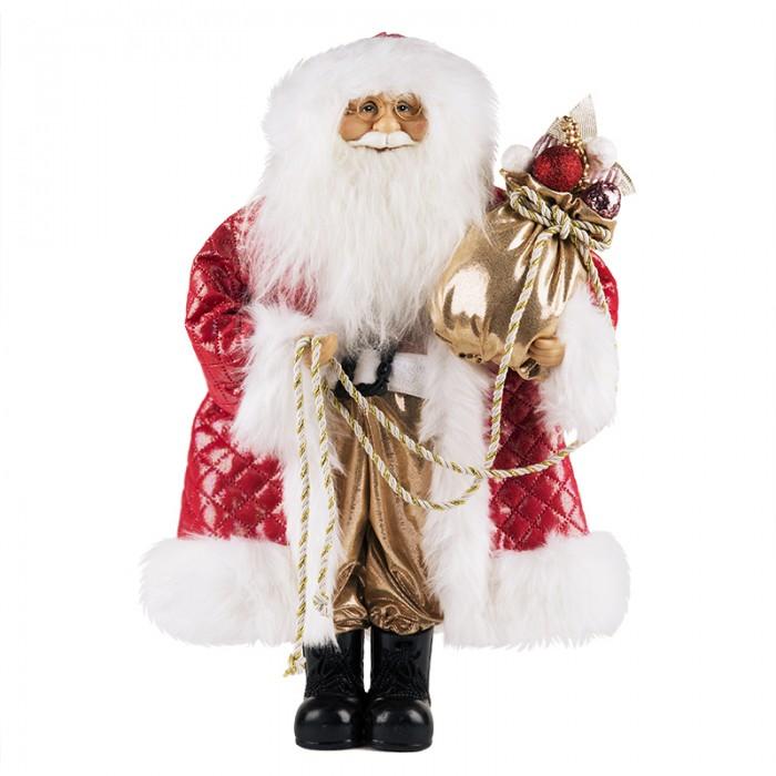 Новогодние украшения Maxitoys Дед Мороз в красной шубе с мешком 32 см