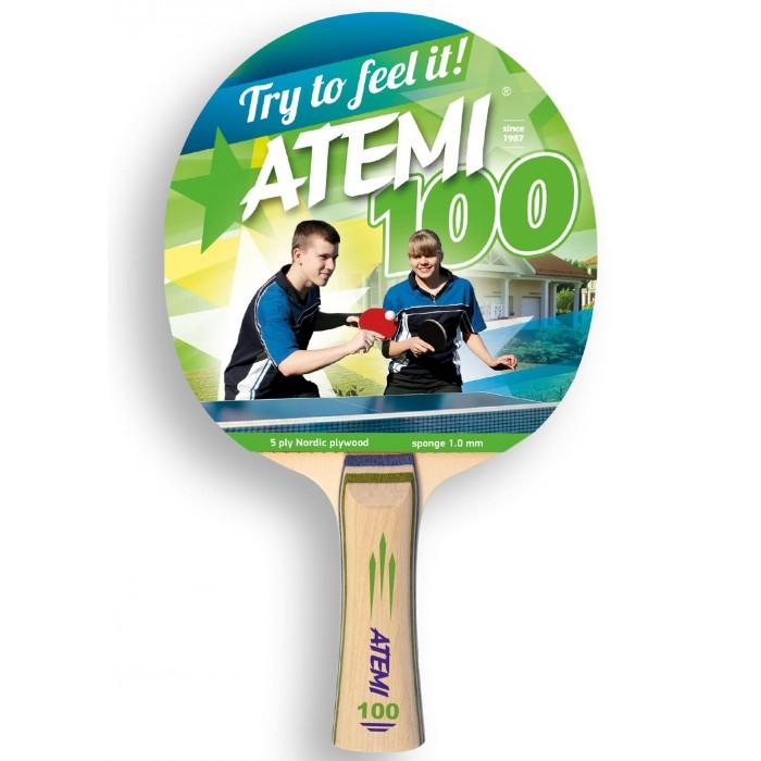 Фото - Спортивный инвентарь Atemi Ракетка для настольного тенниса 100 CV спортивный инвентарь torneo ракетка для настольного тенниса tour