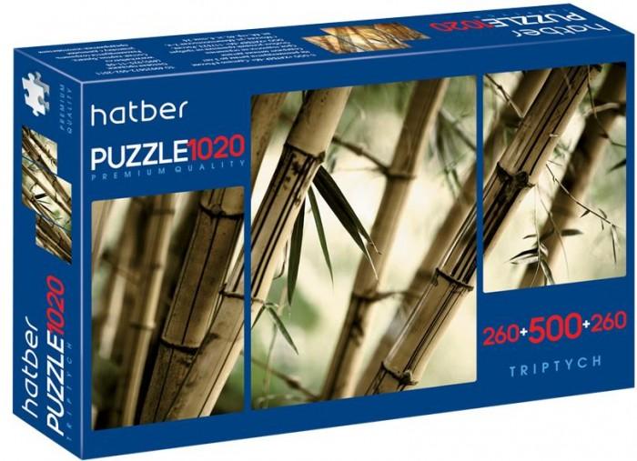 Пазлы Hatber Набор пазлов Premium Triptych Бамбуковый лес (1020 элементов)