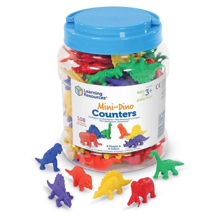 Игровые фигурки Learning Resources Игровой набор фигурок Динозавры (108 элементов)