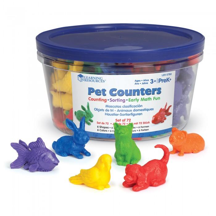 Игровые фигурки Learning Resources Игровой набор фигурок Домашние животные (72 элемента)