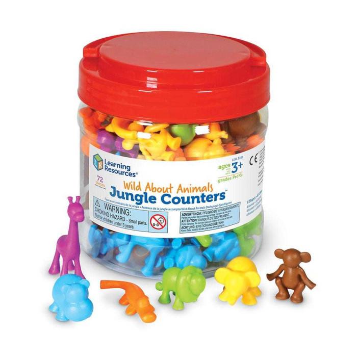 Игровые наборы Learning Resources Игровой набор фигурок Обитатели джунглей (72 элемента)