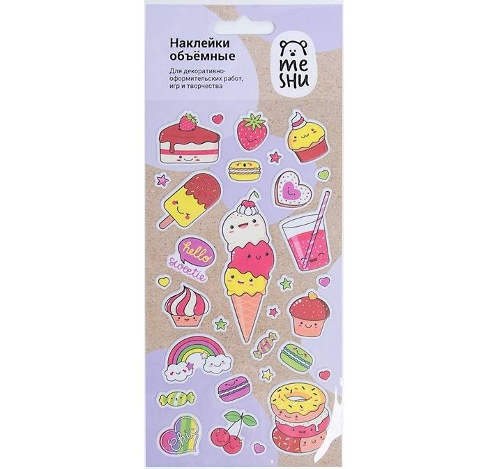 Детские наклейки Meshu Наклейки объемные Sweets
