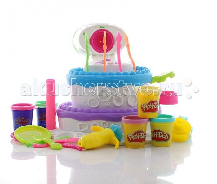 Всё для лепки Play-Doh Hasbro Игровой набор Праздничный торт всё для лепки play doh hasbro игровой набор праздничный торт