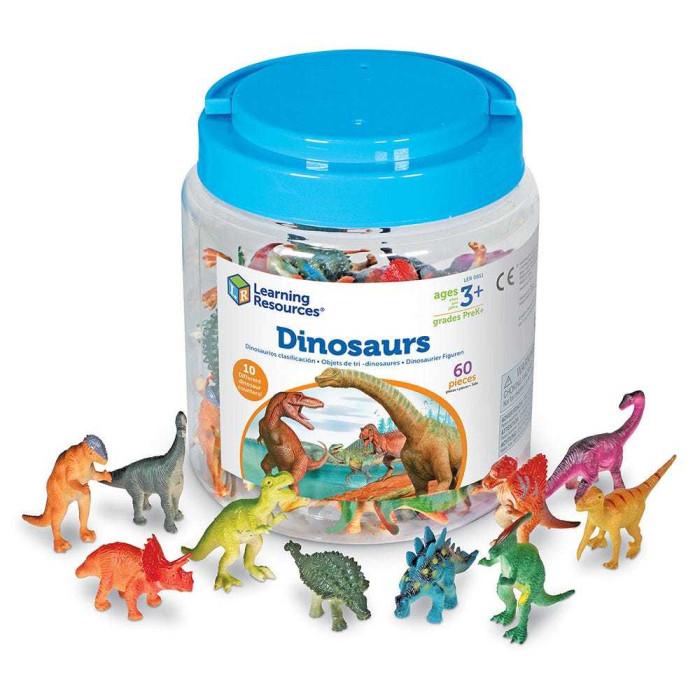 Игровые фигурки Learning Resources Игровой набор фигурок Динозавры (60 элементов)