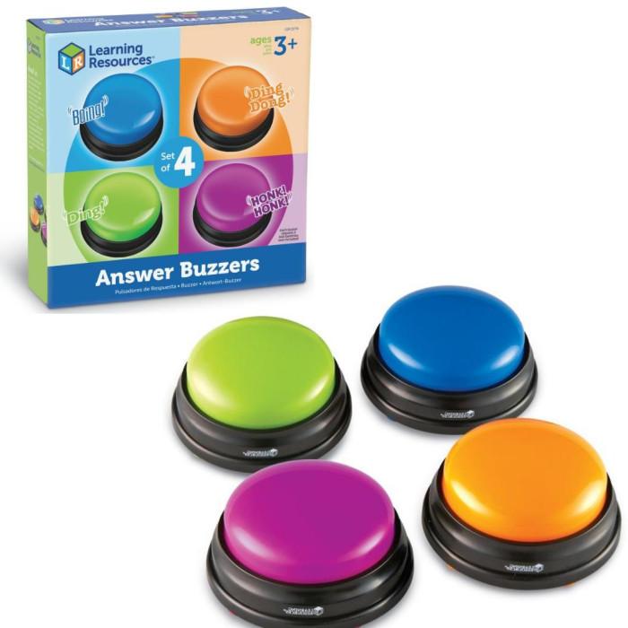 Электронные игрушки Learning Resources Гигантские кнопки Стремительный ответ (4 элемента)